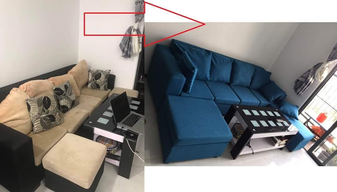 Bọc đệm ghế sofa cho Chị Trang tại Đường Đào Nguyên Phổ, Quận 11