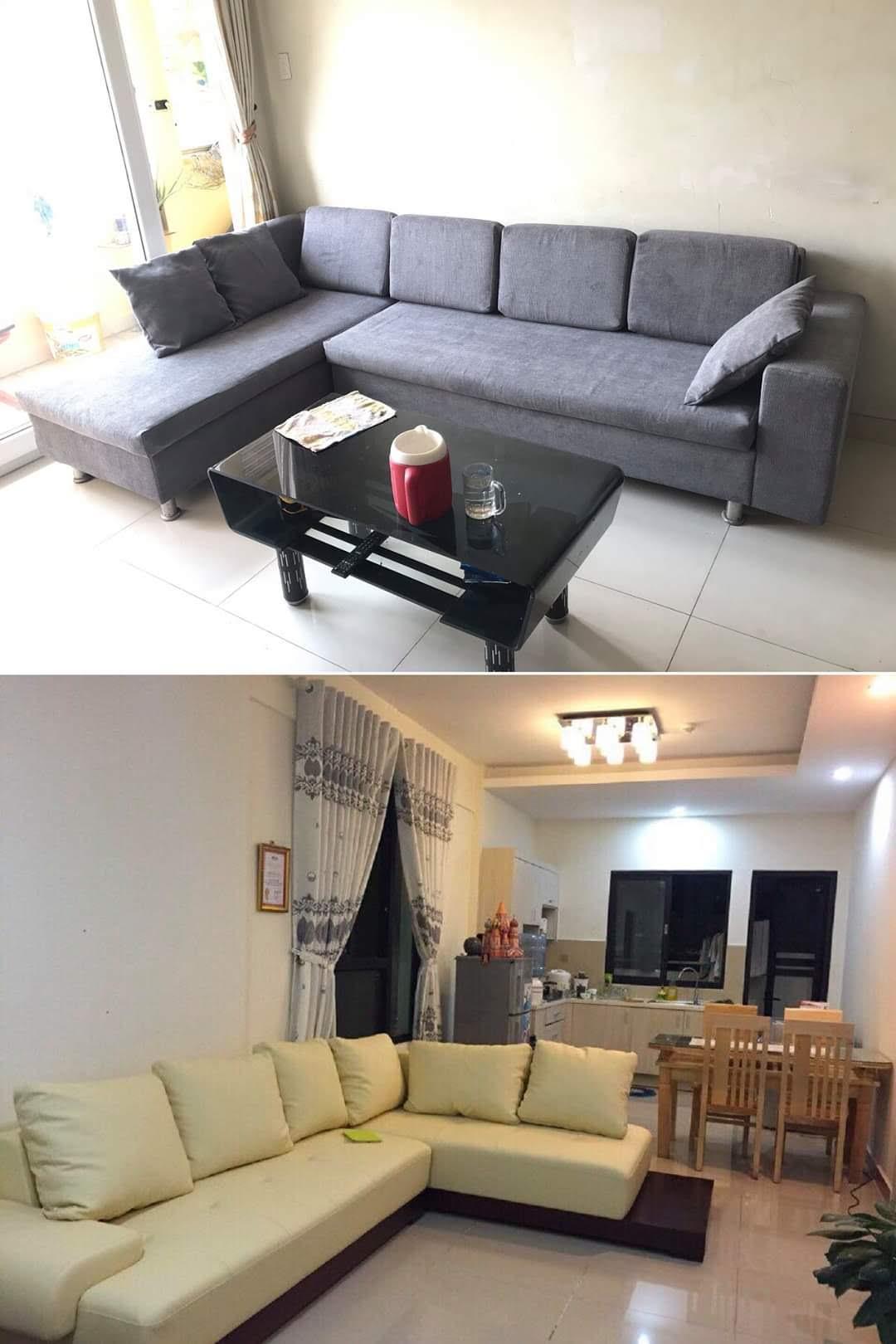 Bọc lại ghế sofa cho Anh Sơn tại Đường Bùi Thị Xuân, Quận 1