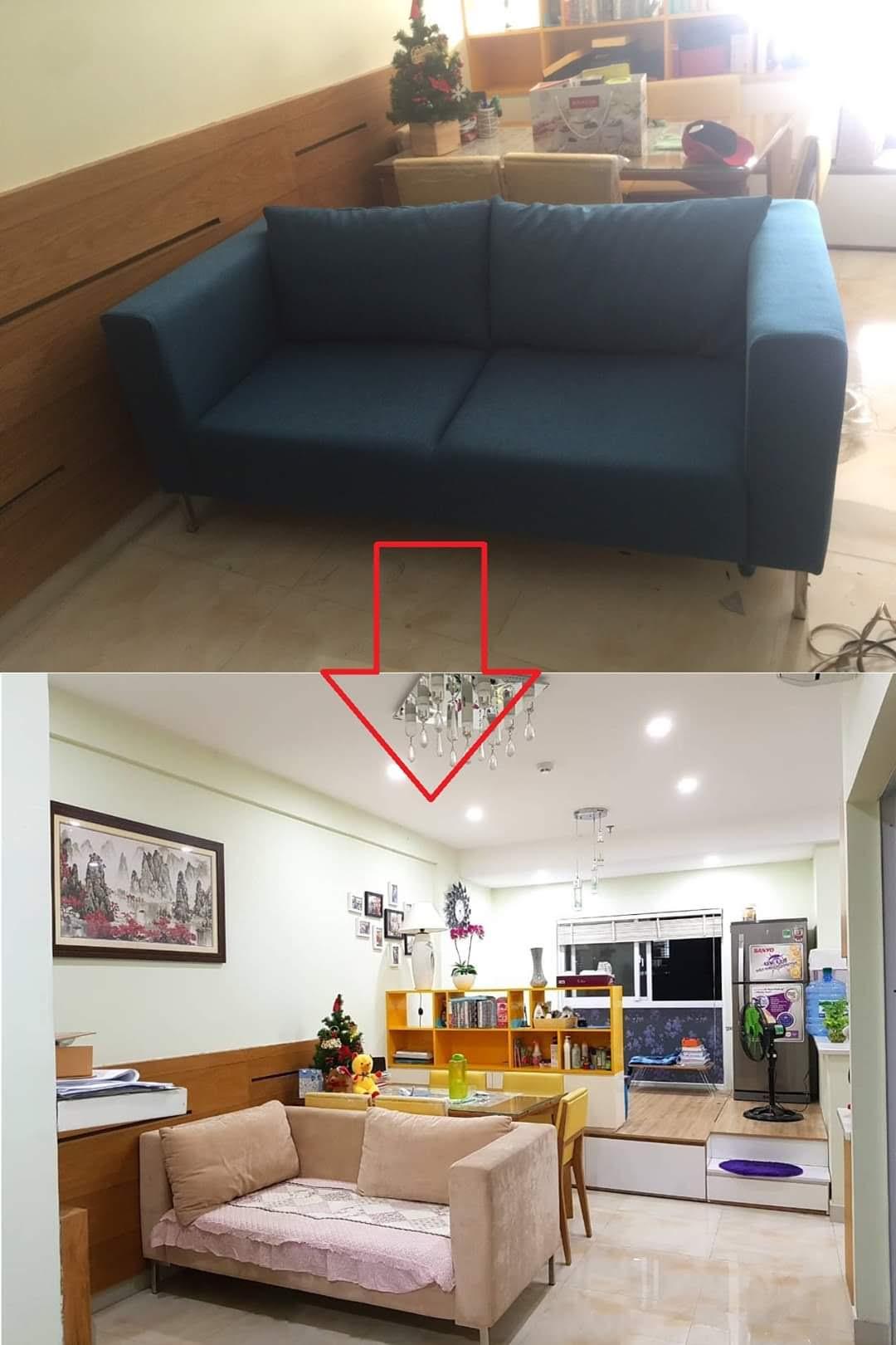 Bọc lại ghế sofa cho gia đình Anh Lam tại đường Cộng Hòa, Quận Tân Bình
